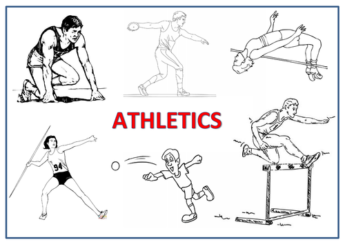 Athletics - Colouring In Sheet