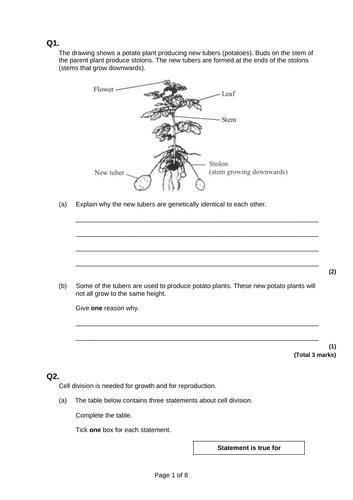 9-1 AQA GCSE Biology - U6 L1 Reproduction and Gamete Formation
