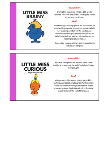 Little Miss Non-Doer Task Cards