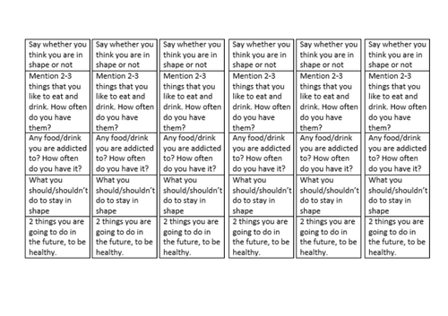 Viva 3 Spanish unit 3 differentiated structure strips