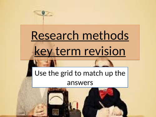 GCSE 9-1 Psychology  Research methods interactive revision