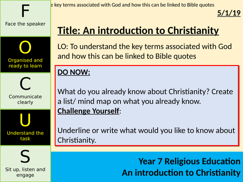 KS3 Introduction to Christianity SOL