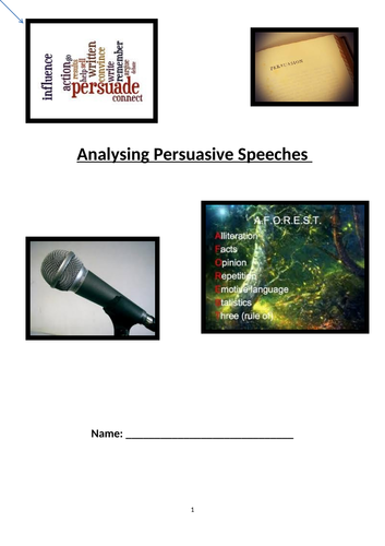 Analysing Persuasive Speeches