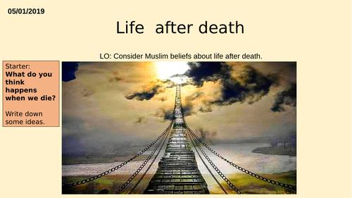 AQA GCSE RE RS - Islam Beliefs - L6 Akhirah Life after death