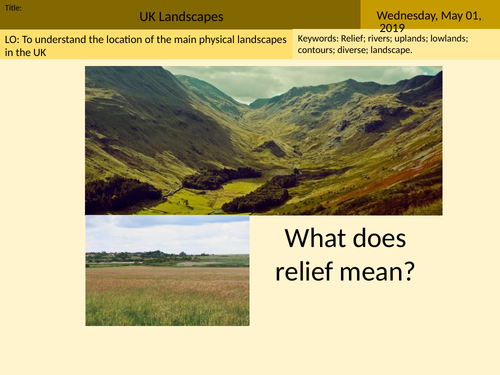GCSE AQA Geography UK Landscapes Introduction Lesson 1