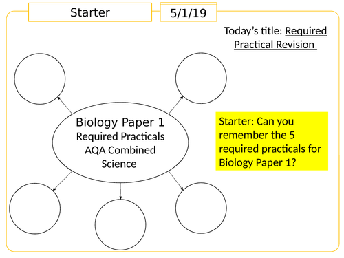 AQA Biology Required Practical Revision
