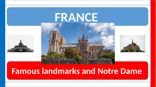 Notre Dame and Famous landmarks of France