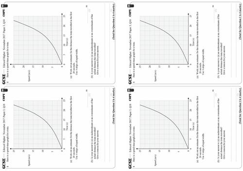 Estimating Area Under a Curve - Higher GCSE Questions