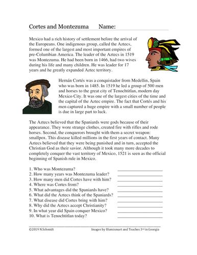 Hernan Cortes and Montezuma: Conquest of the Aztecs Reading (English Version)