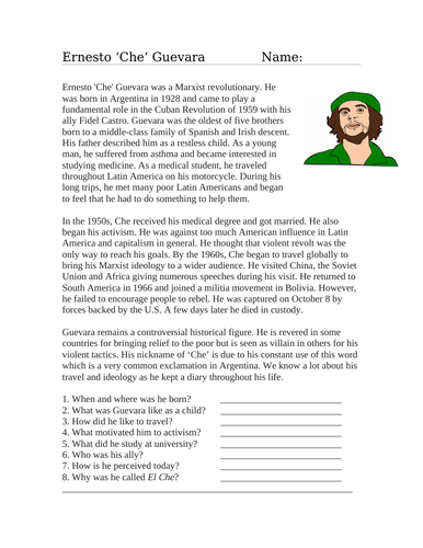 Ernesto Che Guevara Biography (English Version)