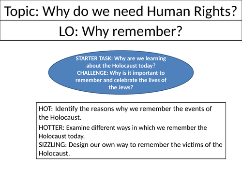 Why remember? - Holocaust L5