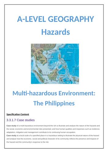 Multi-Hazardous Environment Case Study - Phillipines