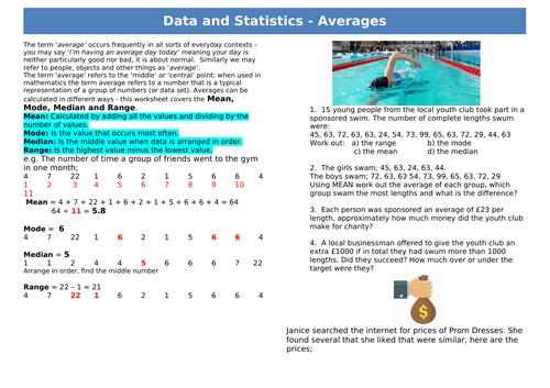 Functional Skills Maths - Data and Statistics - Averages - EL3-L1