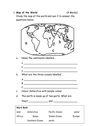 Geography Assessment Test