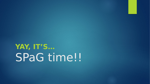 SPaG Time!