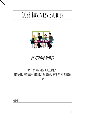 *Updated* GCSE Business Studies Revision Notes