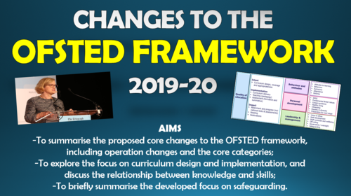 CPD - Summary of Changes to the Ofsted Framework 2019-20