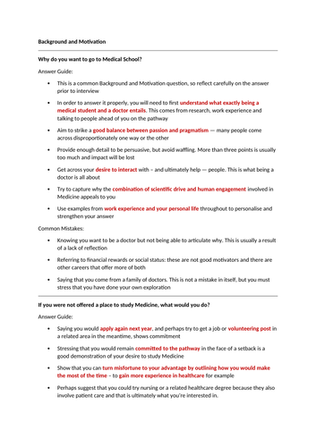 Medicine MMI Interviews Questions and Answers