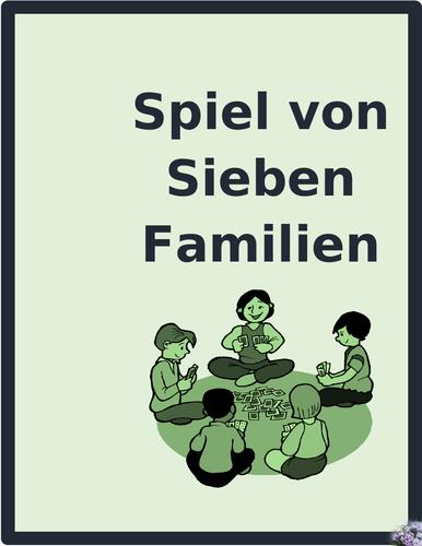 Kleidung (Clothing in German) Spiel von sieben Familien