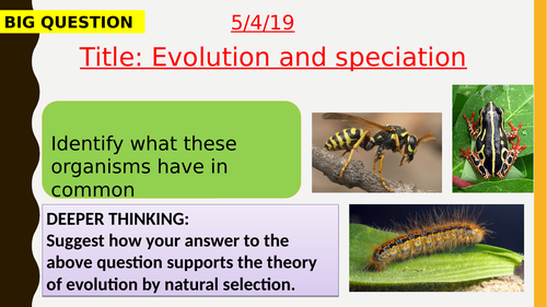 AQA new specification-Evolution and speciation-B15.4