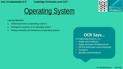 Cambridge Technicals Unit 1 - Operating System