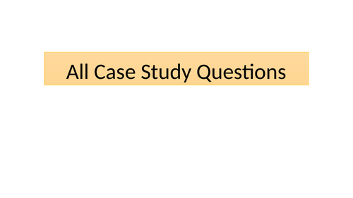 Case study questions and answers from the past 5 years iGCSE