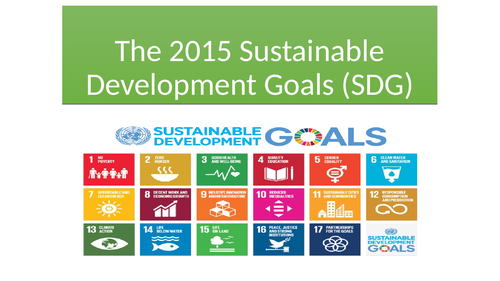 The sustainable development goals