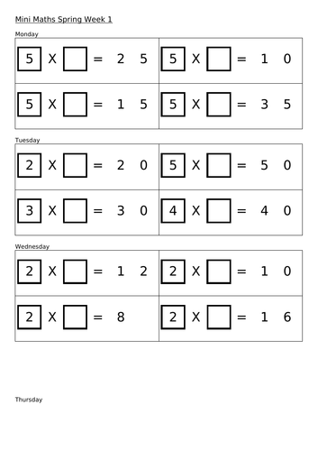 Year 2 Arithmetic Question Booklets, Spring