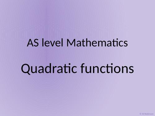 A level AS Mathematics Quadratics
