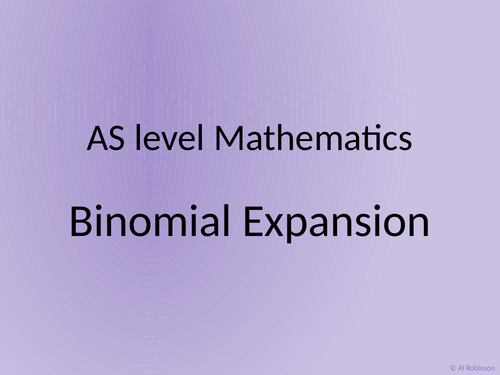 A level AS Mathematics Binomial Expansion