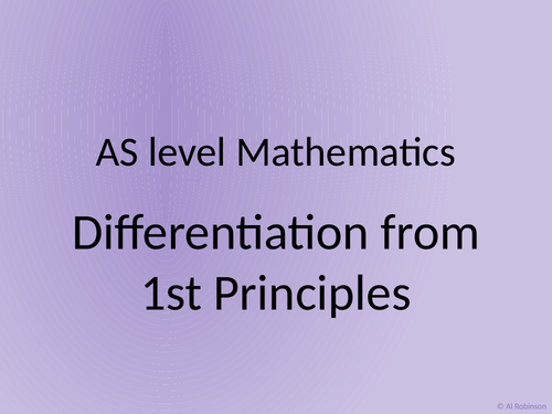 A level AS Mathematics Differentiation