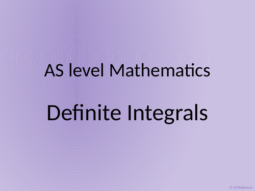 A level AS Mathematics Integration