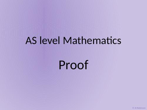 A level AS Mathematics Proof