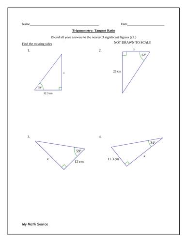 Trigonometry - Using the Tangent Ratio