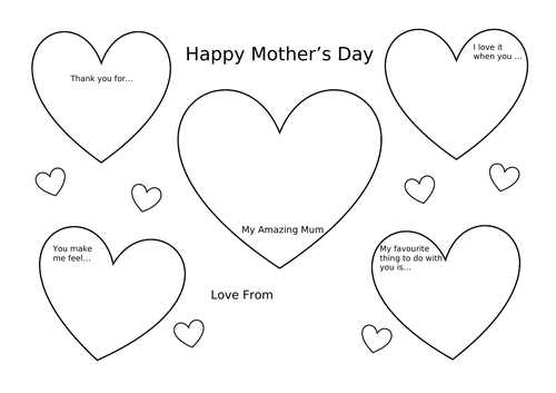 Mother's Day Placemat Activity