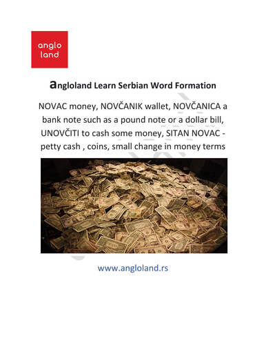 angloland Learn SERBIAN word formation  b