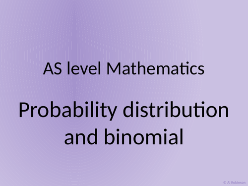 A level AS Mathematics Binomial distribution and hypothesis testing