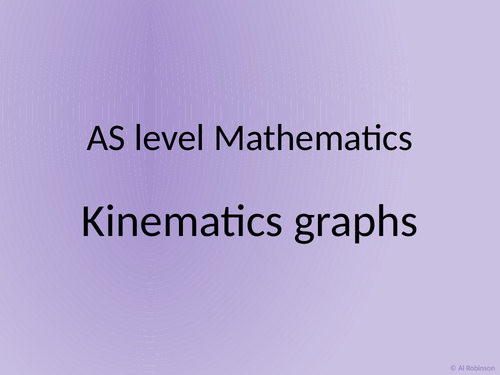 A level AS Mathematics Kinematics