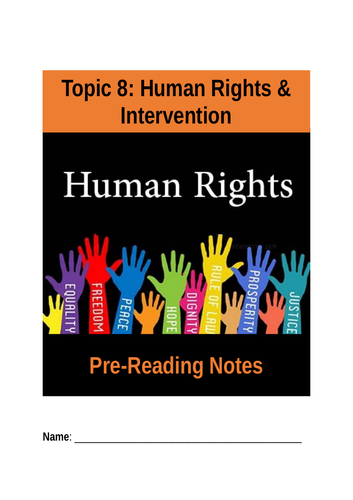 Human rights pre-reading booklet