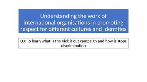 Tackling Discrimination
