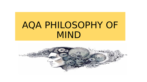 AQA philosophy: Philosophy of mind revision flash cards