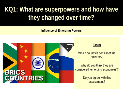 7.3 Influence of emerging powers