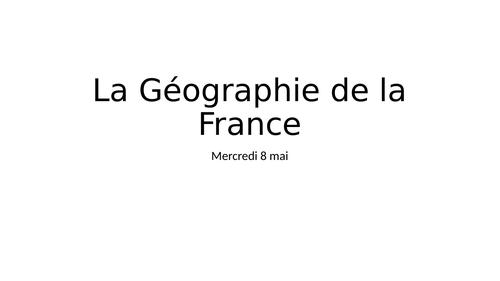 La Géographie de La France.