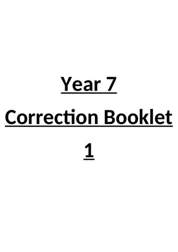 Correction Booklets- Supporting Grammar.