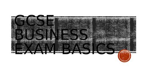AQA GCSE Business exam guide