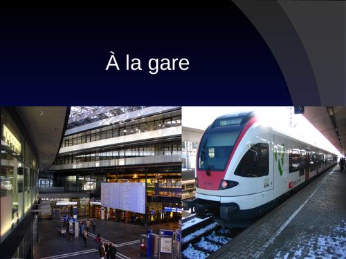 A la gare / At the train station