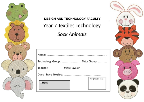 Year 7 or Year 8 Textiles Project Booklets (12 Weeks) Design and Technology