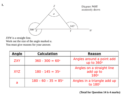 Angles Reasoning Lesson