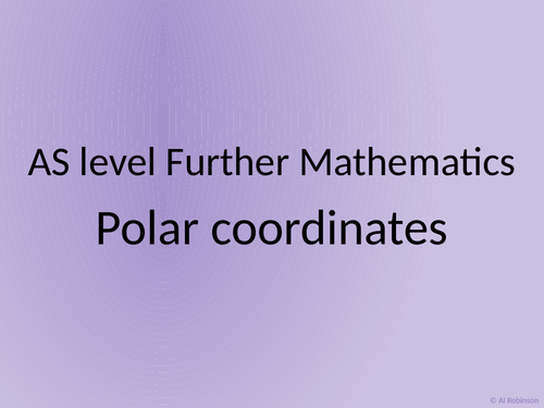 AS level Further Maths Polar coordinates