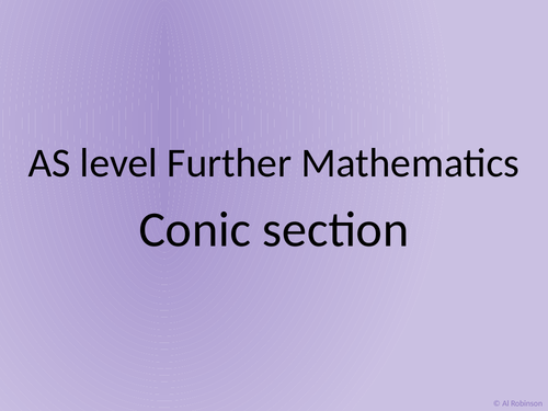 AS level Further Maths Conic sections